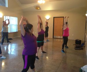 long-stretch in zumba class