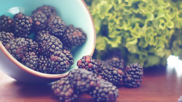 fruit, blackberries